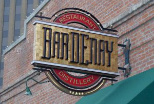 Bardenay Projecting Building Sign